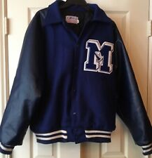 High School Varsity Letterman Jacket - size XL - Blue/Blue - very good condition