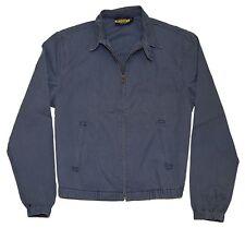 Polo Ralph Lauren Rugby Mens Cotton Windbreaker Elastic Jacket Coat Blue Medium