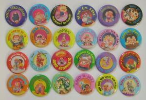 Garbage Pail Kids Metal Pins Buttons Complete Set Sgorbions GPK