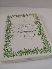 Vintage Hallmark Stationery Boxed Set Christmas Design Partial Set