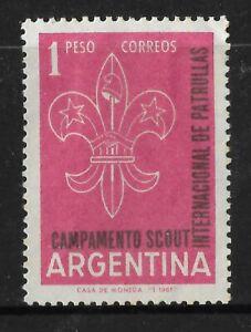 ARGENTINA 1961 BOY SCOUTS 1v MINT