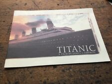 TITANIC PRESS RELEASE PROGRAMME JAMES CAMERON ORIGINAL GENUINE RARE ROSE JACK