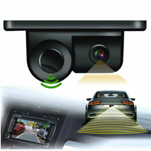 2In1 Camera Autos Reversing Rearview Backup Parking Camera w/ Parking Sensor Kit