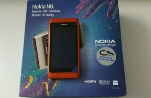 Nokia N8 - 16GB - Orange (Unlocked) Smartphone Rare