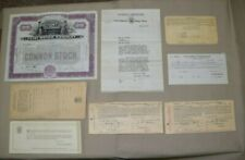 Vintage1924 Flint Motor Company Stock and 1923 Durant Plan Purchasing Paperwork