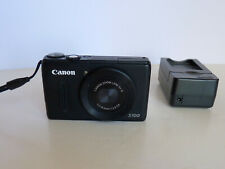 Canon PowerShot S100 Digital Camera (Black) - comes with charger and battery