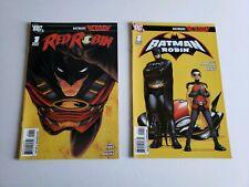 Red Robin 1 & Batman & Robin 1 Lot DC Comics 2009 Batman Reborn