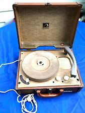 Vintage 50's RCA Victor Suitcase Portable Record Player Tube Model 6-EMP-2B