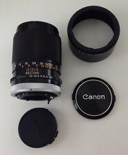 Canon FD 135mm 1:3.5 S.C. Lens w/Caps & Canon BT-55 Lens Hood