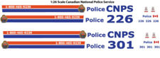 1:26 DECALS CNPS CANADIAN NATIONAL RAILWAY POLICE WELLY FORD CROWN VICTORIA