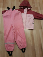 Regenanzug Regenkombi Matschanzug Gr.110/116 Regenjacke Regenhose TOP Rosa Pink
