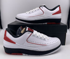 Nike Air Jordan 2 Low Chicago White Red Mens Sz 7.5 832819-101 Basketball Shoes