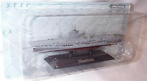 Illustrious Aircraft Carrier on display Plinth 1:1250 Scale new in pack KZ08