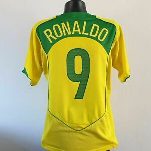 RONALDO 9 Brazil Shirt - Medium - 2004/2006 - Home Nike Jersey