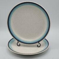 "Set of 2 Vintage Franciscan Pottery Malibu Luncheon Salad 8.25"" Plates NICE"