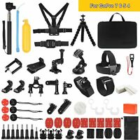 69 Stück Action Kamera Zubehör Set Für Gopro Hero 7 6 5 4 Session Black Sport DE