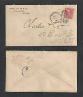 1896 PARIS ALLEN & CO NEW YORK ADVERTISING COVER US SC #220
