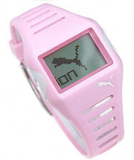 NIB PUMA Active Collection Top Flow Pink Digital Ladies Watch PU910182001