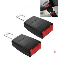 Car Seat Belt Socket Tongue Buckles Clip Rigid Car Safety Seatbelt Tongue 2PCS