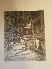 Planche gravure Don Quichotte illustré par Doré Graveur H-Joseph Pisan
