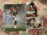 NFL Denver Broncos Brian Dawkins COA Autographed Signed 8 X 10 Football Photo