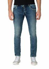 Timezone Herren Jeans ScottTZ - Slim Fit - Blau - Blue Scrub Wash W28-W40
