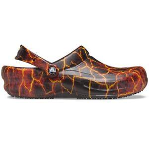 Crocs 'Bistro Graphic' Work Clogs - Lava