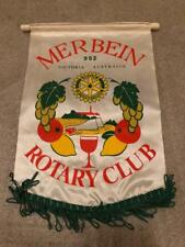 Vintage Rotary Club International Small Hanging Banner Merbein  Australia