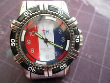 mens TH TIME WEAR, quartz watch, fresh battery used but decent  condition