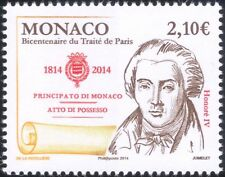 Monaco 2014 Treaty of Paris Bicentenary/Honore IV/Royalty/People 1v (mc1063)