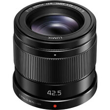 New Panasonic LUMIX G 42.5mm f/1.7 ASPH. POWER O.I.S. Lens - BLACK  [H-HS043]