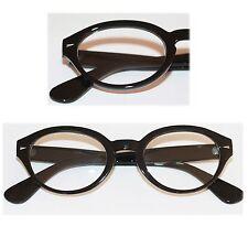 Reading Glasses Chunky Funky Geek Euro Readers Big Black Statement Frame +1.50