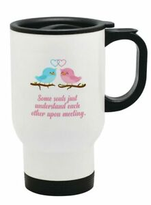 Love Birds Thermal Travel Mug Flask Coffee Tea Mug 43