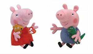 Ty Beanie Babies Peppa Pig Characters New With Tags