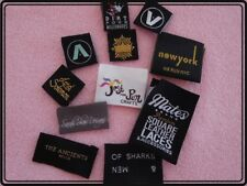 Custom made woven labels hi density damask weave satin printed clothing tags