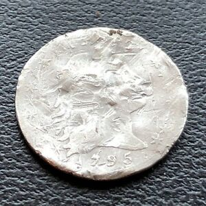 1795 Flowing Hair Half Dime 5c Nice Coin damaged Very RARE EARLY DATE #22910