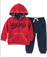 Tommy Hilfiger 2-Pc Hoodie & Jogger Pants Set Baby Boys 6-9 Months New