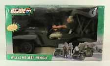 GI JOE A Real American Hero Willy's MB Jeep Vehicle 12 inch 2003