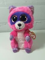 """TY Beanie Boo Plush - Roxie the Racoon 15cm (6"""") with tags February  18th 2015"""