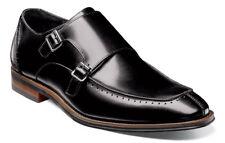Stacy Adams Baldwin Black Moc Toe Double Monk Strap Buckle Dress Shoes Size 11