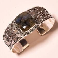 Jewelry Adjustable Bangle Pus-03 Labradorite Vintage Style Gemstone Gift