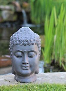 Garden Ornament Buddha Head Sculpture indoor outdoor Home Decor Stone Ceramic