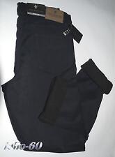 Pantalone uomo termico dal 46 al 62 jeans interno in pile strech imbottito blu