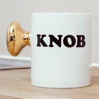 Thumbs Up Knob Door Nob Mug Novelty Funny Rude Tea Coffee Cup Work Office Gift