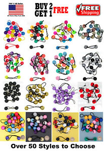 Girls Kids Braid Beads Scrunchie Hair Tie Ball Ponytail Holder Bands Bobble Set
