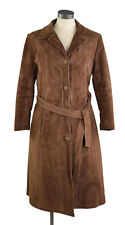 Leather Suede Women Small Slim Long Coat by Gregory's Leather Fashions Canada