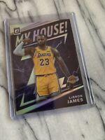 Lebron James My House Silver Prizm Holo 2019-2020 Panini Donruss Optic Sp Lakers