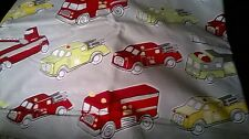 New Pottery Barn Kid FIRETRUCKS Twin DUVET SHAM fire engine truck ORGANIC
