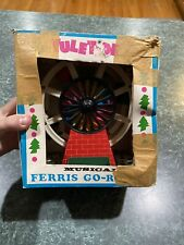 Vintage Yuletide FERRIS WHEEL Christmas Toy Santa Snowman Angel w/ Original Box