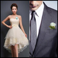 Wedding Artificial Flower Corsage Groom Best Man Boutonniere Prom Party Decor US